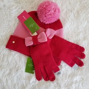 Kate Spade Bow Knitted Gloves